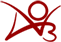 AO3 logo - the letters A O 3 combined with arms raised in celebration, symbolizing the joy of fannish creation in the Archive